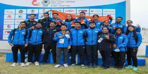 India finish on top with 43 medals at Shooting Junior World Championships