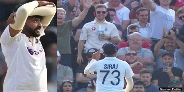 The mocking continues! England fans now throw ball at Mohammed Siraj
